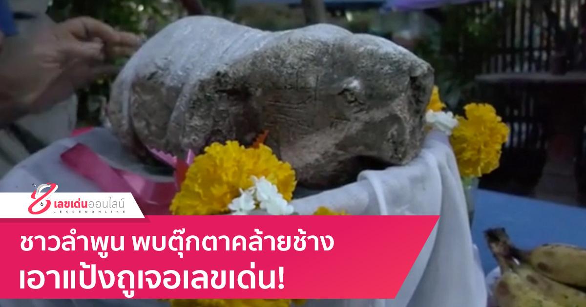 ชาวลำพูน พบตุ๊กตาคล้ายช้าง เอาแป้งถูเจอเลขเด่น!